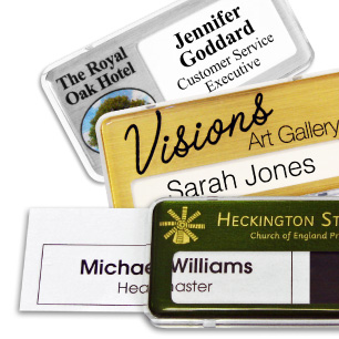Reusable name badges | www.namebadgesinternational.co.uk