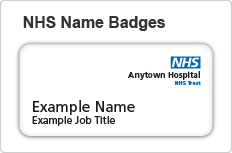NHS name badges