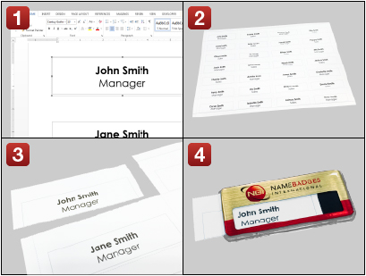 Reusable Staff Name Badges - Name Badges International