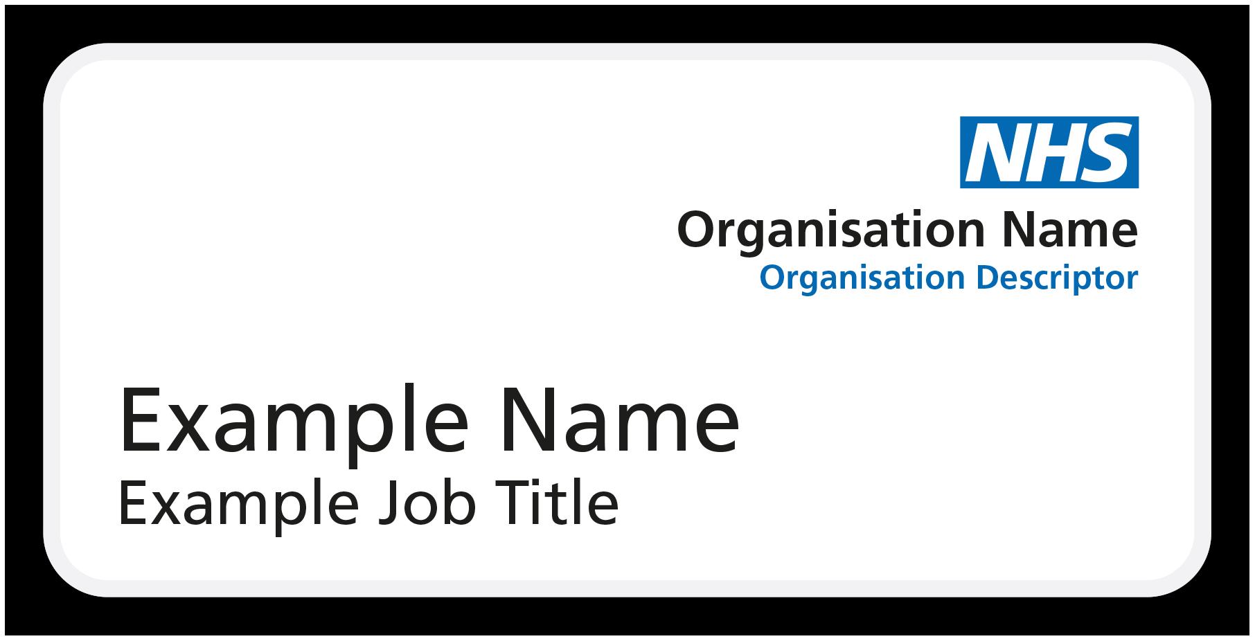 Nhs Name Badges Name Badges International Staff Name Badges